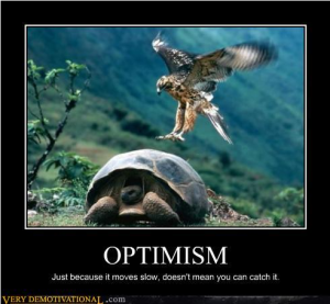 Optimism (Photo credit:verydemotivational.com)