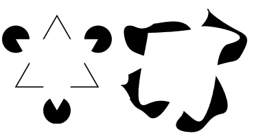 Kanizsa triangle and asymmetric completion illusion