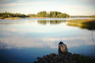 Sitting by the water (Photo credit: Hannele Luhtasela-El Showk)